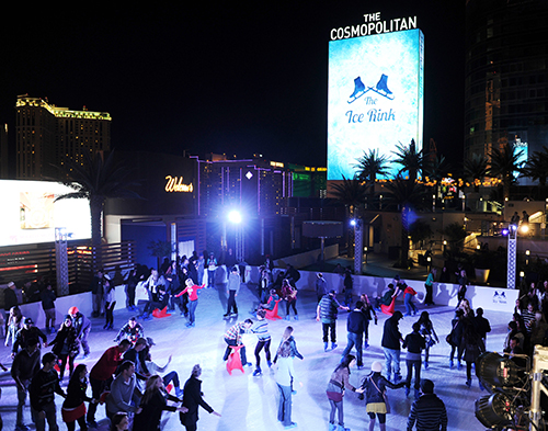 The Ice Rink at The Cosmopolitan of Las Vegas; Photo credit: Denise Truscello ©