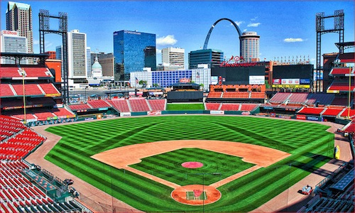 Busch Stadium in St. Louis, Missouri. Courtesy of Ron Cogswell.