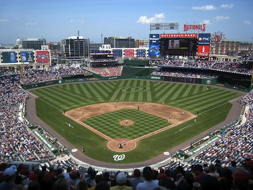 A view of Washington D.C. from the third level of Nationals Park. Courtesy of John M.