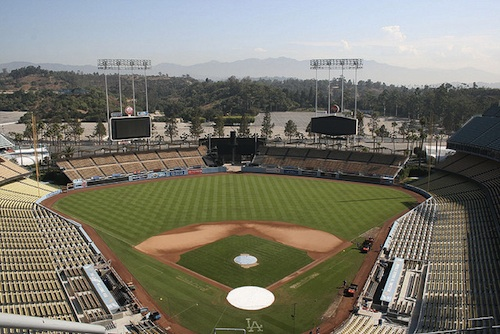 View from the top deck of Dodger Stadium. Courtesy of Mr. Littlehand.