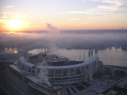 The Great American Ballpark and Ohio River. Courtesy of Mike Phillips.