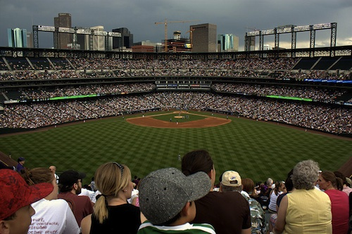 A view from the Rockpile seats at Coors Field in Denver. Courtesy of Mr. Lujan.