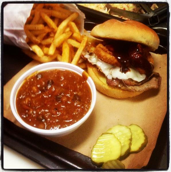 Z-man sandwich; Photo courtesy of Joe's Kansas City BBQ