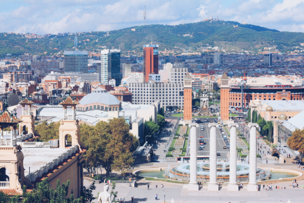 The view from the top of Montjuïc Park.