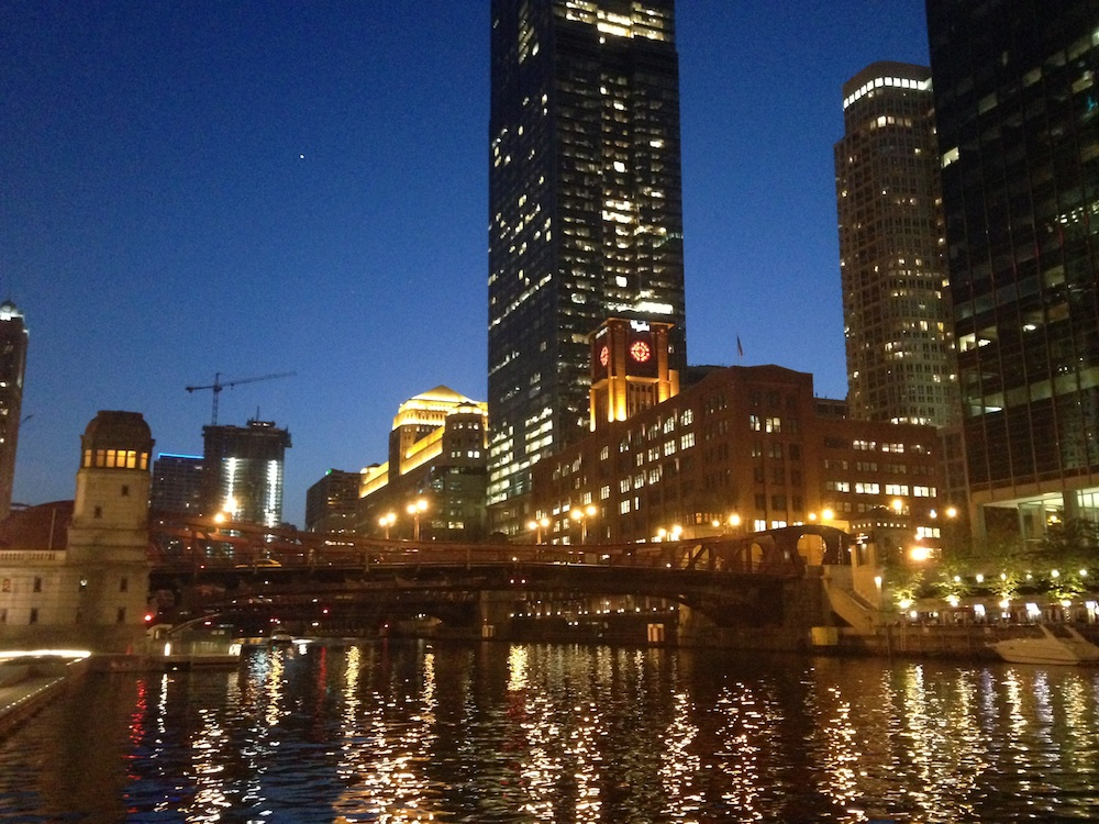 A view from the Chicago Riverwalk. Courtesy of Ally Marotti.