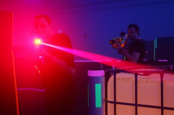 Play laser tag