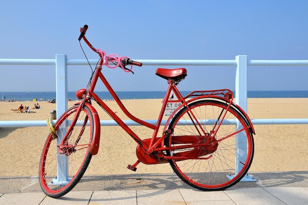 Bike by a beach