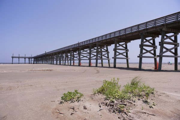 Pier at Grand Isle, Louisiana
