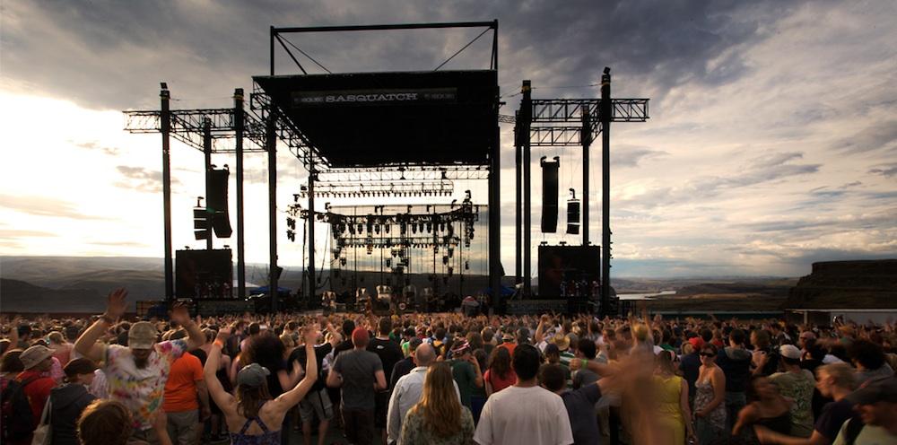Gorge Amphitheatre outdoor concert venue