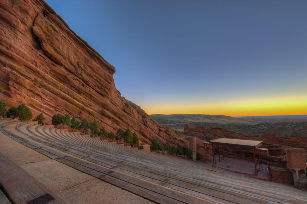 Red Rocks Amphitheater outdoor concert venue