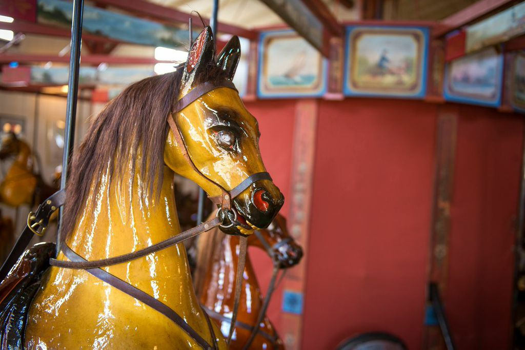 The Flying Horses Carousel ride is on the National Register of Historic Places. Credit N. Friedler/Flickr Creative Commons.