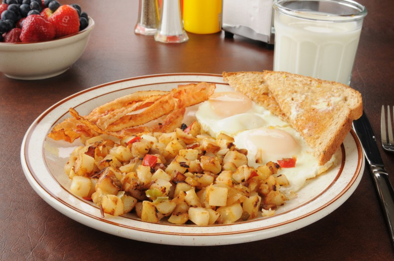 Eggs and hash are a staple at the best diners.