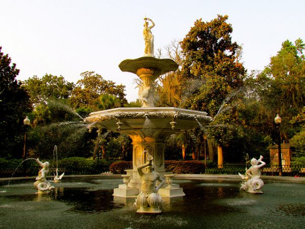 The gorgeous fountains of Savannah, Georgia. This ultra romantic destination tops our list of the best Sweetest Day ideas.