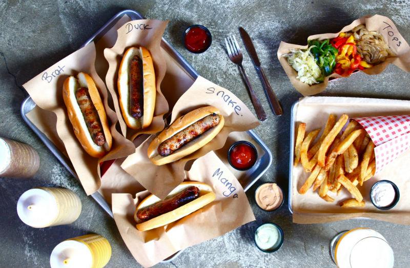 Wurstküche, sausages, hot dogs, Arts District, foodie, Los Angeles, DTLA