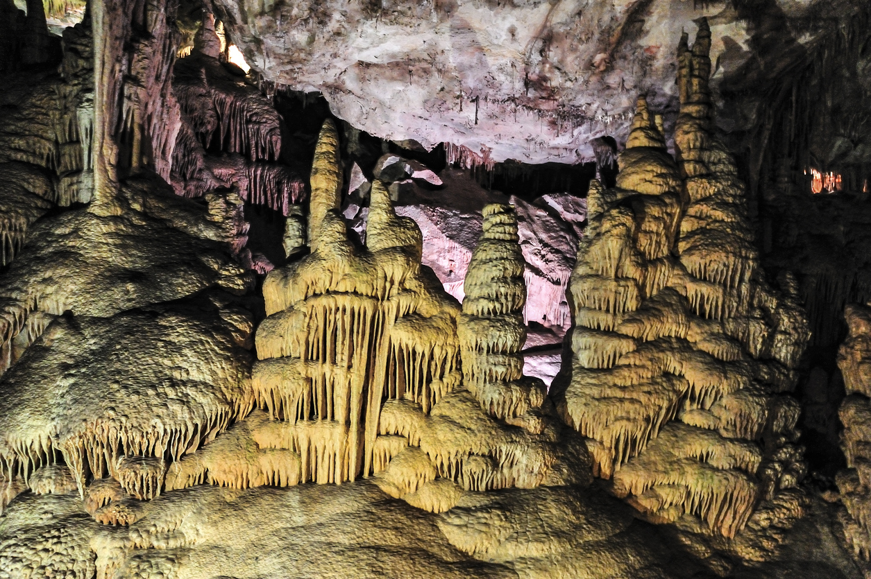 Image of cave formations inside Lehman Caves, Great BAsin National Park, Nevada.